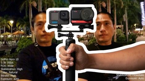 GoPro Hero 10 low light vs Insta360 One R 1 inch