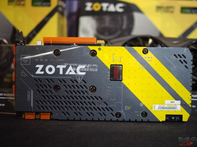 Backplate of their Thermaltake co-created GTX1080