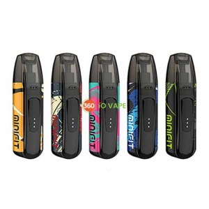 Minifit Ultra Pattern. JUSTFOG MINI FIT Ultra Portable Kit presents an ergonomically designed device with constant voltage output internal chipset, featuring 370mAh integrated battery and a 1.5mL pod cartridge.