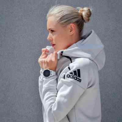 woman wearing Adidas jacket