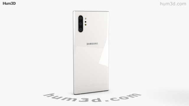 360 View Of Samsung Galaxy Note 10 Plus Aura White 3d Model