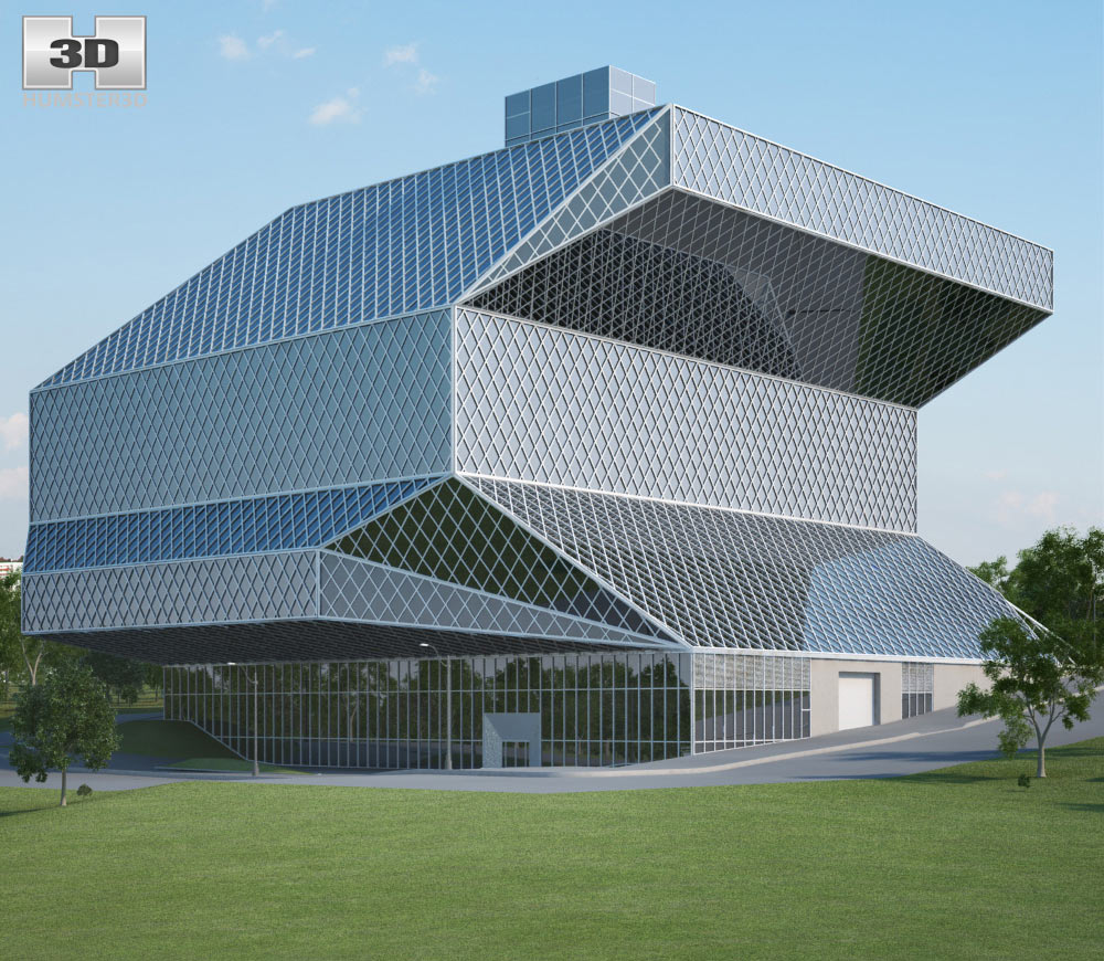 Seattle Central Library 3D Model Architecture On Hum3D