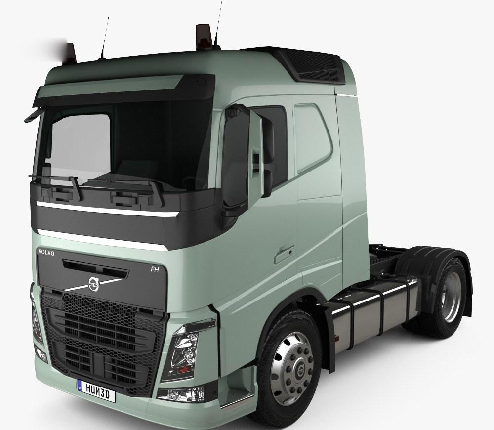 volvo fh 420 sleeper cab tractor truck 2-axle 2012 3d model - hum3d