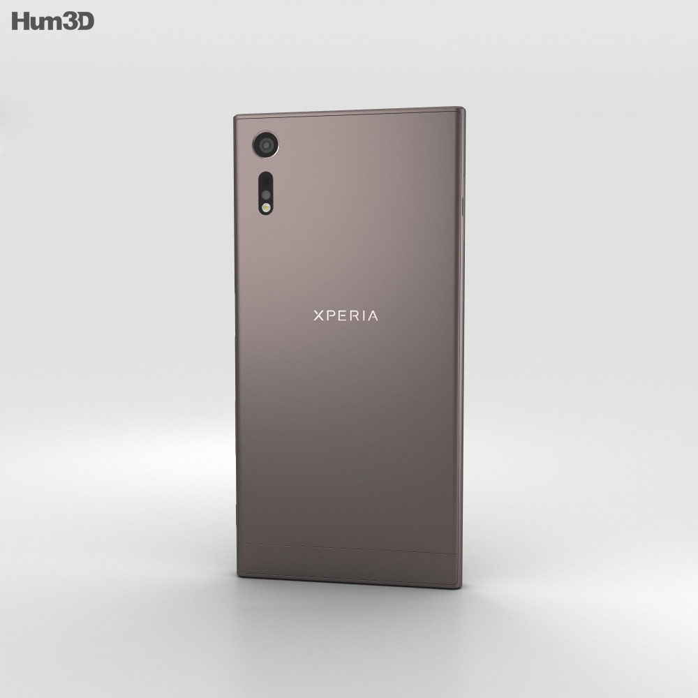 sony xperia xz mineral black 3d model humster3d