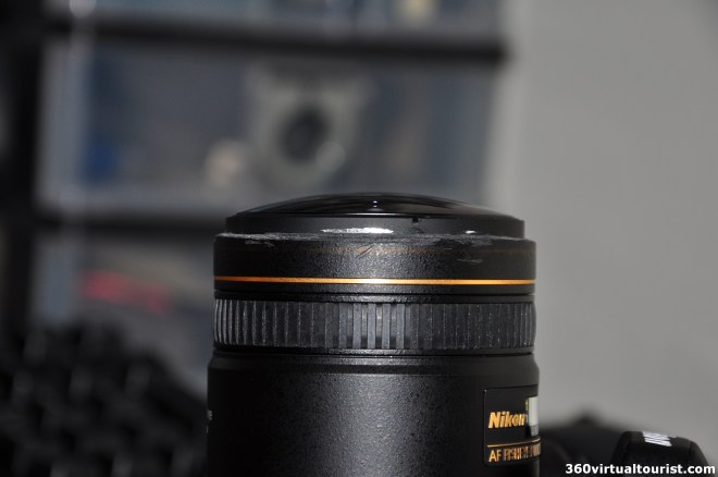 nikkor 10.5mm sawed-off lens hood_scratched