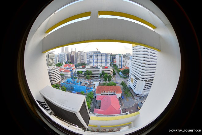 circular fisheye lens after shaving