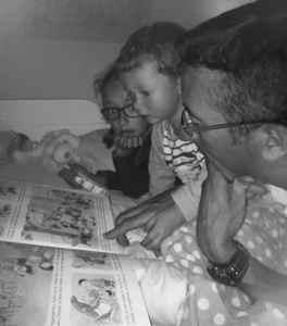 lecture du soir en famille : lire des histoires à ses enfants