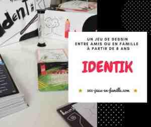 Identik : un jeu de dessin, en famille ou entre amis