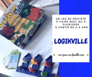 Logikville : un jeu de logique pour jouer seul ou à plusieurs