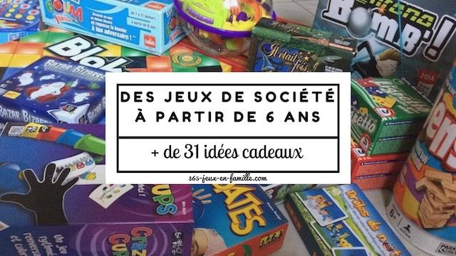 Cadeaux : 31 jeux de société à partir de 6 ans