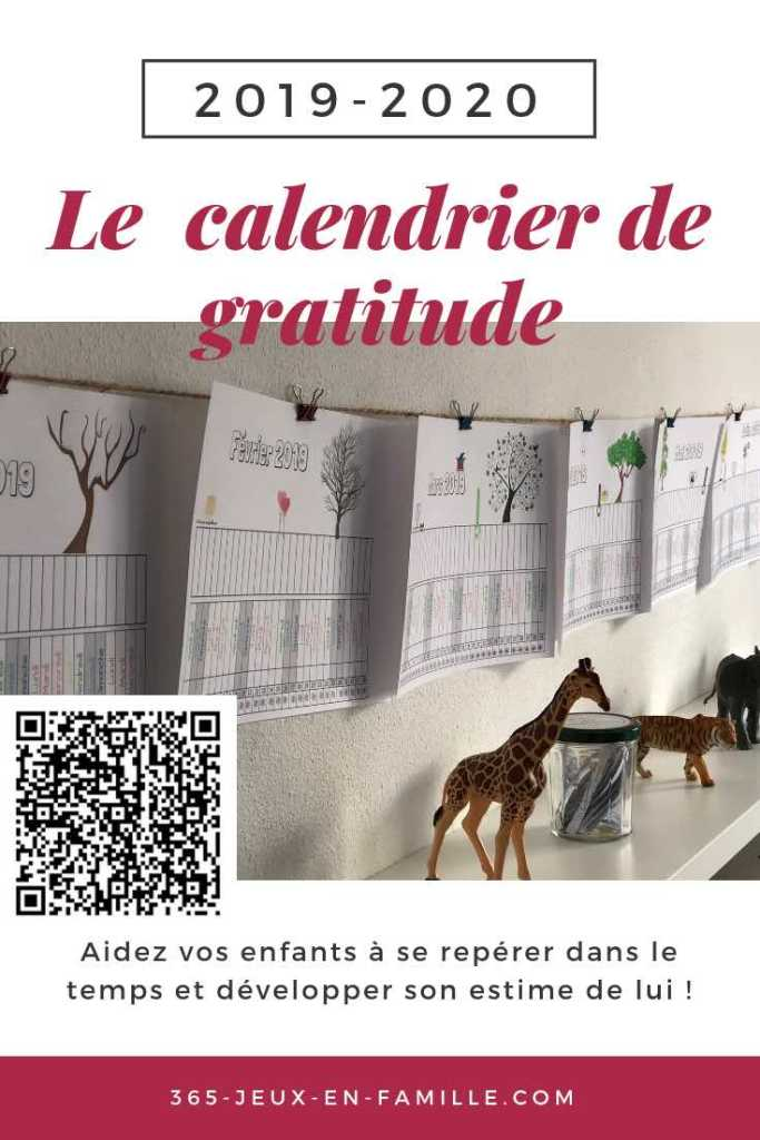 le calendrier de gratitude 2019 2020