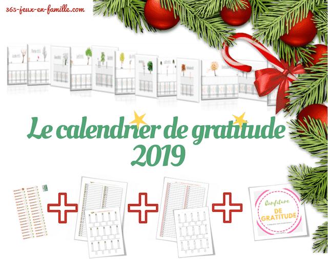 Le calendrier 2019 de gratitude