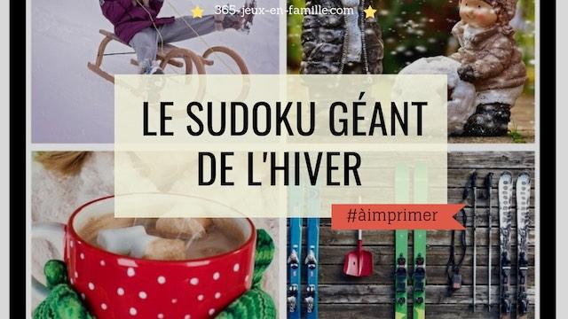 le sudoku géant de l'hiver à télécharger