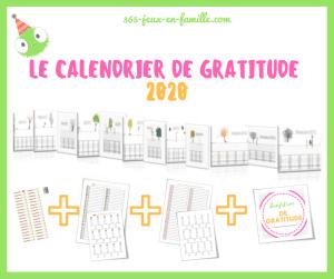 calendrier de gratitude 2020