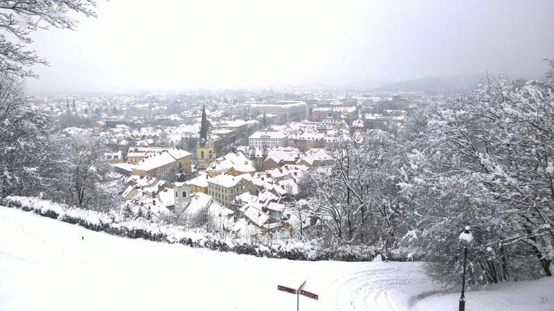 Liubliana se viste de blanco