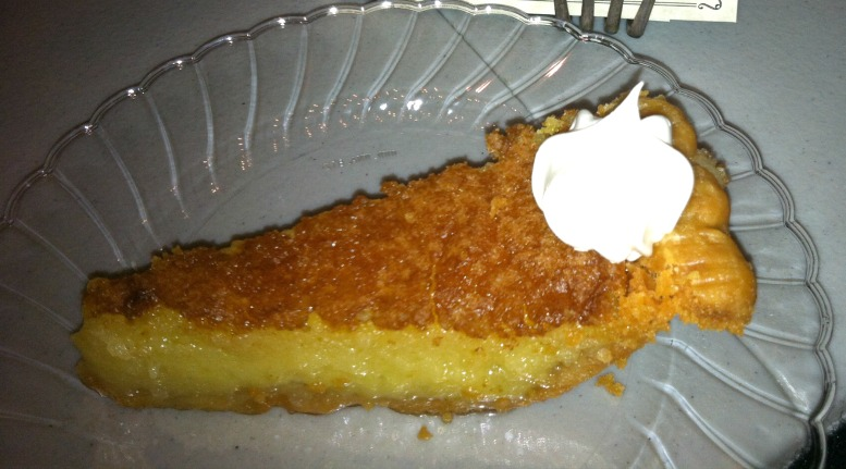 Buttermilk pie at Yesterday's in Rutledge, Ga.