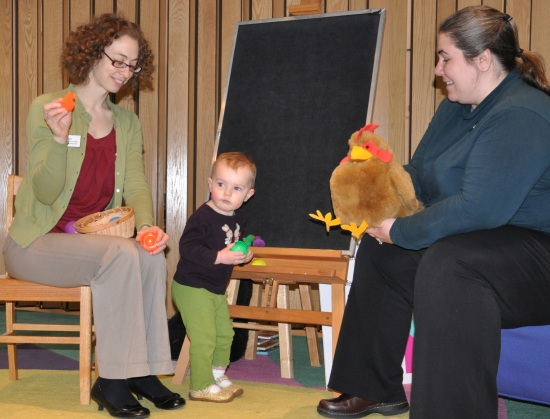 With the Librarians at Nursery Rhyme Time