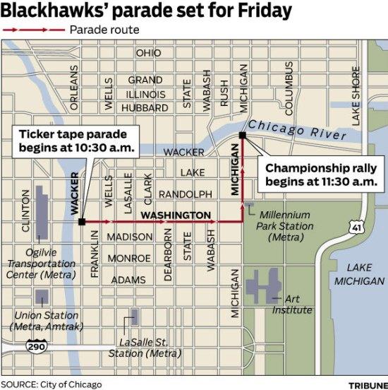 Chicago Hawks Championship Parade