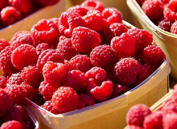 Farmers Market Raspberries