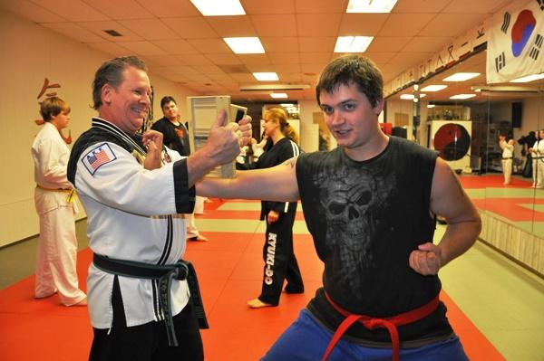 Breaking Boards at Tiger Martial Arts