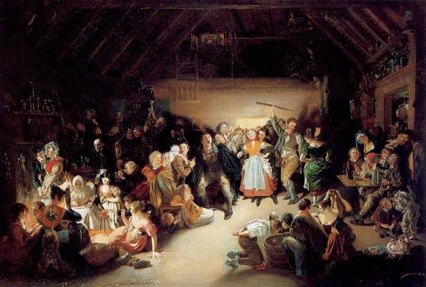 Irish Halloween Party Painting from 1832