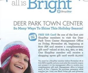 236.  Free Money at Deer Park Town Center