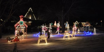 Holiday Lights on Old Oak Road in Barrington