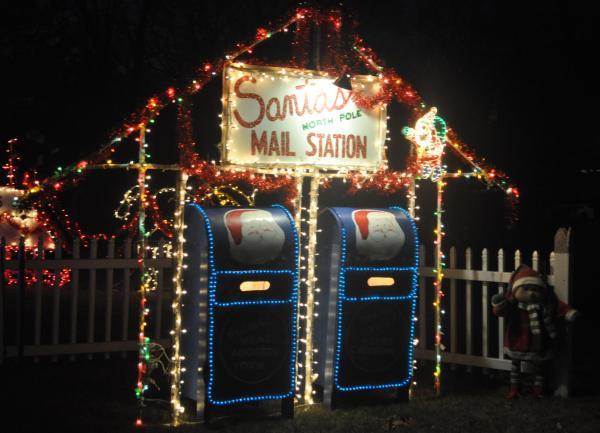 Santa's Mail Station Holiday Lights Display