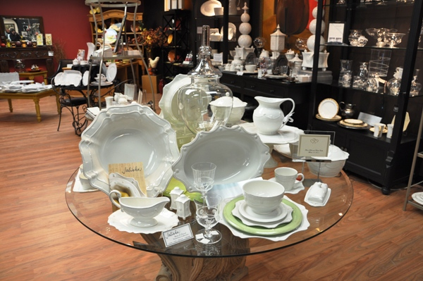 Fine Tableware on Display at the Barrington Home Shoppe
