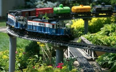 40.  Visit The Train Lady's Train Garden Masterpiece