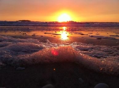 """""""Sea Foam Sunset"""" by Kelly Katis"""