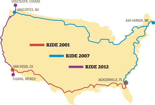 Ride for 3 Reasons Map