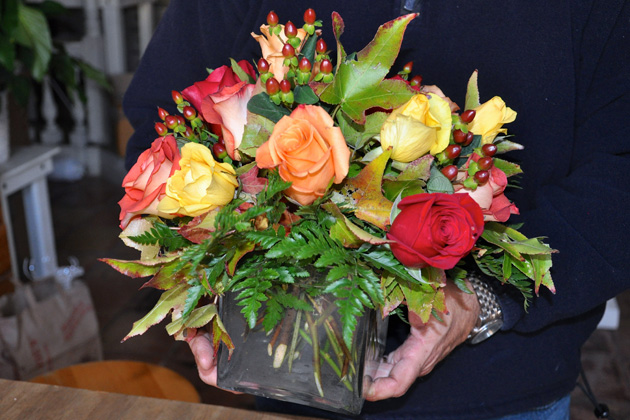 Post - Barrington Flower Shop Holiday Bouquet