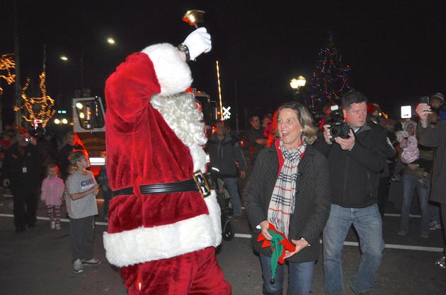 Santa's Arrival in Barrington