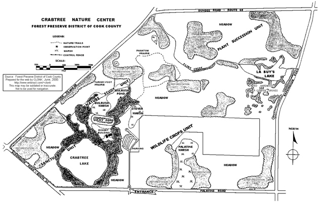 Post - Crabtree Nature Center Map