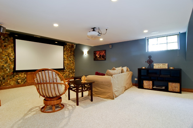 Lower Level Media Room at 150 Braymore Court in Barrington - Open Sunday, February 24, from 1 p.m. to 4 p.m.