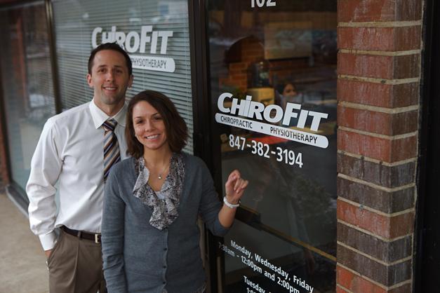 Dr. Dave Crosson & Dr. Jennine Morgan at ChiroFit in Barrington - Photographed by Julie Linnekin