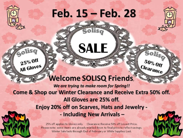 Post - Welcome Spring Sale at Solisq