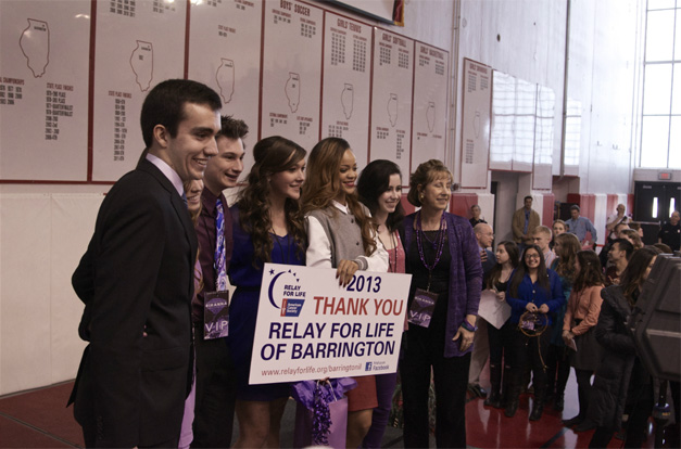 Rihanna Poses for Photos with BHS Relay for Life Team - Photographed by Matt Weidner