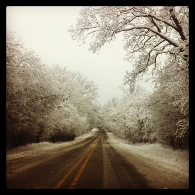 Winter Scene on Old Barrington Road - Photographed by Melissa Allen
