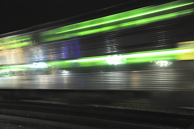 Metra Commuter Train Passing Through Barrington