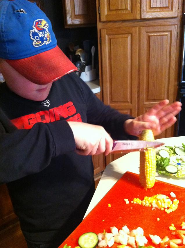 Future Chef, Brian Donlea, in the Kitchen