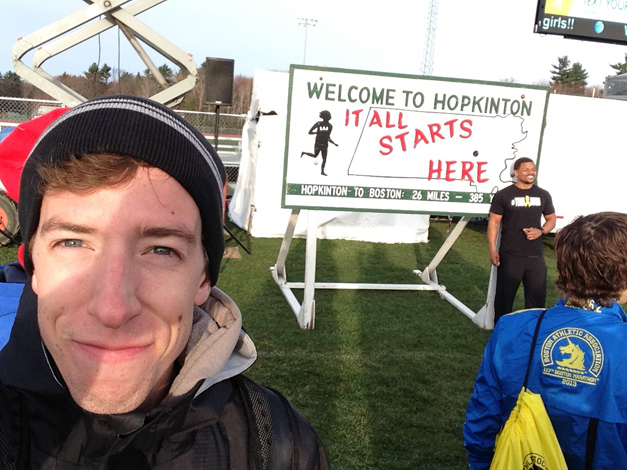 BHS Cross Country Coach, Tom Root, at Boston Marathon 117