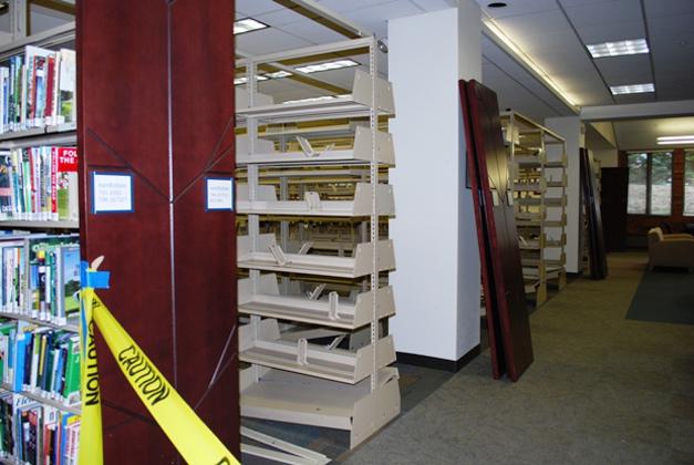 Barrington Area Library Shelving - Courtesy of the Barrington Area Library