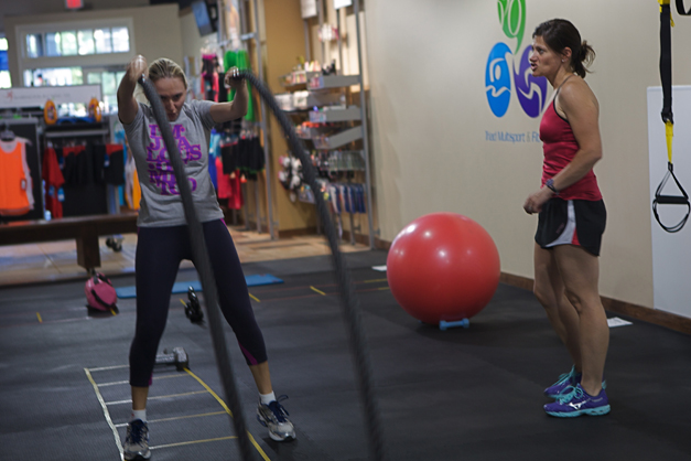 Personal Training at Barrington Running Company - Photographed by Julie Linnekin