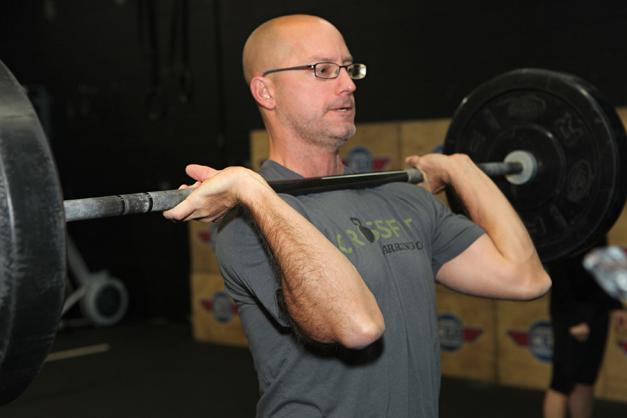 Jim Bailey at CrossFit Barrington - Photographed by Julie Linnekin