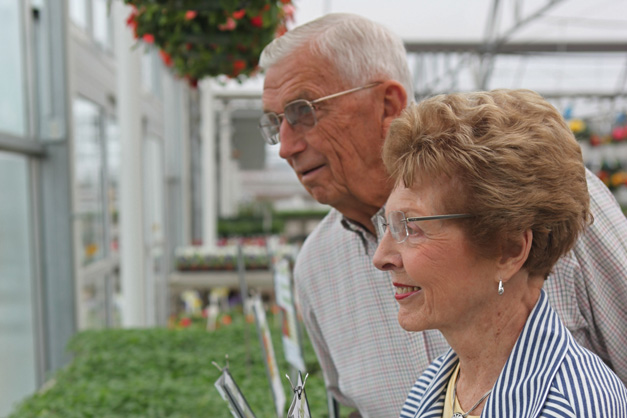 Jim and Esther Goebbert at the famliy farm in South Barrington - Photographed by Julie Linnekin