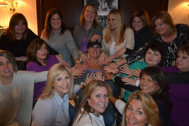"""Denise Oetinger (center) gains strength and support from her freshly-manicured friends who recently attended """"Nail Nite"""" at Wellness Place - Photo Provided"""