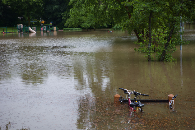Miller Park During Today's Flash Flooding - Photographed by Julie Linnekin