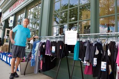 Barrington Sidewalk Days Sales at Barrington Running Co. - Photographed by Julie Linnekin